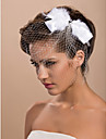 Wedding Veil One-tier Blusher Veils / Birdcage Veils Cut Edge Tulle White