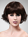 capless 100% cheveux humains belle boucles perruque courte