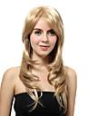 Capless long Blonde droit Perruques synthetiques