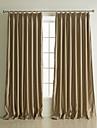 neoclassiques deux panneaux kaki solide rideaux polyester salon de stores opaques