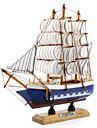 20x20cm trä segelbåt skrivbord dekoration