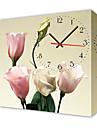 moderno reloj de pared de estilo floral de la lona