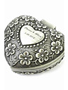 Personalized Elegant Heart-shaped Decorative Pattern Tin Alloy Women\'s Jewelry Box