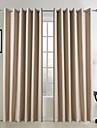 neoclassiques deux panneaux solide beige salon rideaux du panneau de linge de faux opaques