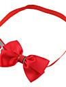 Chat / Chien Colliers Ajustable/Reglable / Noeud Papillon Rouge / Vert / Bleu / Jaune / Rouge Rose / Bleu marine Tissu