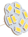 4.5W G4 LED a Double Broches 9 SMD 5630 430 lm Blanc Chaud DC 12 V