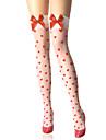 Chaussettes/Bas Doux Lolita Lolita Blanc Lolita Accessoires Bas Imprime Pour Femme Nylon