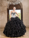 Prom / Formal Evening / Quinceanera / Sweet 16 Dress - Vintage Inspired Ball Gown / Princess Strapless / Sweetheart Floor-lengthOrganza /