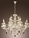 Max 40W Rustic/Lodge Crystal Electroplated Glass Chandeliers Living Room / Dining Room