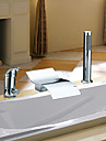 Bathtub Faucet - Contemporary - Waterfall / Sidespray - Stainless Steel (Chrome)