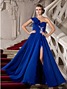 TS Couture® Prom / Formal Evening / Military Ball Dress - Furcal Plus Size / Petite A-line / Princess One Shoulder Floor-length Chiffon withAppliques