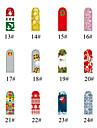 16pcs Christmas Gift Full Cover Plastic Nail Art Nail Sticker