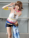 Inspired by Final Fantasy Yuna Video Game Cosplay Costumes Cosplay Suits Patchwork White Short SleeveVest / Shorts / Scarf / Armlet /