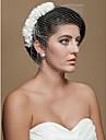 Gorgeous Tulle Wedding Bridal White Flowers Headpiece
