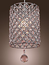 SL®  Crystal Drop Pendant Light in Cylinder Style