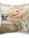1 pcs Synthétique Housse de coussin,Fleur Rustique