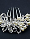 Women\'s Rhinestone Alloy Imitation Pearl Headpiece-Wedding Special Occasion Office & Career Hair Combs