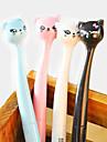 boligrafo de gel cabeza de gato de dibujos animados de estilo japones (color al azar)