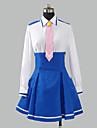 Inspire par PrettyCure Cure Happy Anime Costumes de cosplay Costumes Cosplay / Uniforme d\'Ecolier / Ecoliere Mosaique Bleu Manche Longues