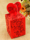 12 Piece/Set Favor Holder - Cuboid Favor Boxes Heart Style