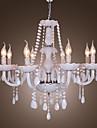 Max 40W Ljuskronor ,  Rustik/Stuga Elektropläterad Särdrag for Kristall Kristall Living Room / Dining Room