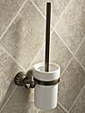 "Toilet Brush Holder Antique Brass Wall Mounted 365x75x140mm (14.4x3x5.5"") Brass Antique"