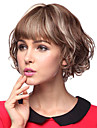 Capless Short Curly 100% Human Hair Parykker