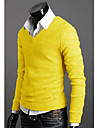 För män V-Neck Jersey Pullover (Slim Fit)