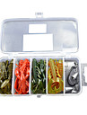 Soft Bait Shrimp/Worm/Hook /Fishing Lure Packs (26pcs) (Color Random)