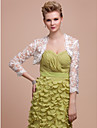 Wedding  Wraps Coats/Jackets 3/4-Length Sleeve Lace As Picture Shown Wedding / Party/Evening Open Front