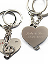 Personalized Keyring - Musical Notes (Set of 6 Pairs)