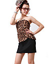 Zhi de yuani leopard două piese, cum ar fi centura bodycon rochie