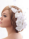 Women\'s/Flower Girl\'s Satin/Crystal/Tulle/Imitation Pearl/Fabric Headpiece - Wedding/Special Occasion/Casual/Office & Career/Outdoor