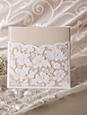 Elegant Floral Cut Wedding Invitation (Set of 50)