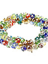 Colorful Crystal Bead Alloy Knit Bracelace