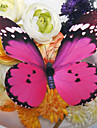 Wedding Décor Lovely Peach Plastic Butterfly (Set Of 6)