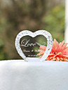 Cake Topper Personalized Hearts / Classic Couple Crystal Wedding / Bridal Shower / Anniversary Garden Theme Gift Box