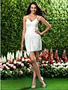 LAN TING BRIDE Short / Mini V-neck Spaghetti Straps Bridesmaid Dress - Sexy Sleeveless Chiffon