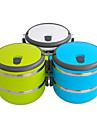 portabel 2-tier isolering bento matlåda (blandade färger)
