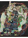 Omfamningen av Gustav Klimt Famous Sträckt Canvastryck