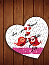 Personalized Heart Shaped Jigsaw Puzzle - Love Birds