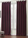 Två paneler Fönster Behandling Modern , Solid Polyester Material Mörkläggning Gardiner draperier Hem-dekoration For Fönster