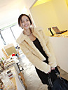 Long Sleeve Hood Faux Fur Casual/Party Jacket