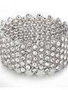 Women\'s Cuff Bracelet Alloy Crystal