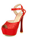 Fashion Leatherette Stiletto Heel Sandals With Sparkling Glitter Party/Evening Shoes(More Colors)