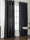 moderna två paneler fasta svart sovrum poly bomullsblandning panelgardiner draperier