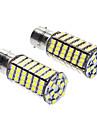 1156/BA15S 7W 6000-6500K 480LM 120x3528SMD LED ampoule blanche (12V DC, 1 paire)