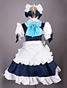 Inspire par Touhou Project Sakuya Izayoi Video Jeu Costumes de cosplay Costumes Cosplay Mosaique Blanc Robe