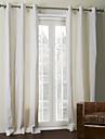 twopages® två paneler benvitt fast beläggning termisk gardin