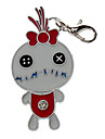 Chat / Chien Etiquettes Noeud / Style Dessin Anime Blanc Metal